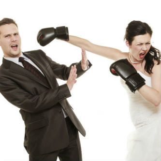 katy private investigator photo of bride in boxing gloves hitting fiance'